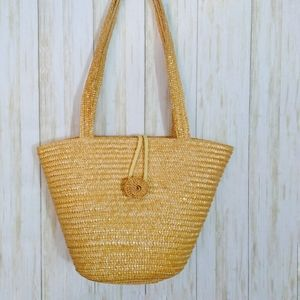 Handbags - Straw Shoulder Strap Tote Bag
